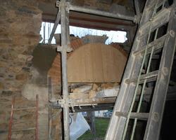 Création de la voute en brique de la baie voutée